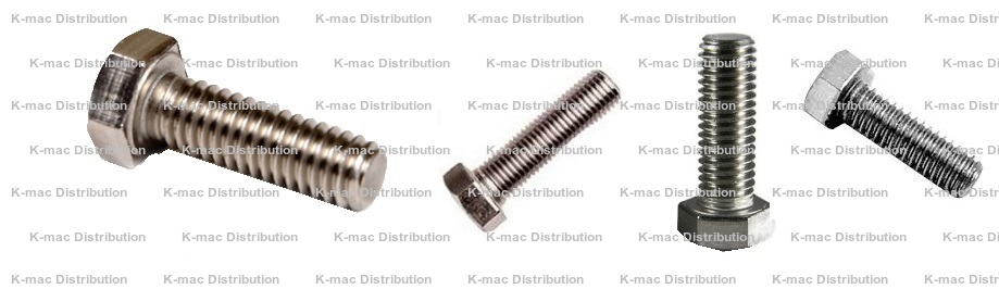 18-8 Stainless Steel Left Hand Bolts, 1/4-20 to 1/2-13