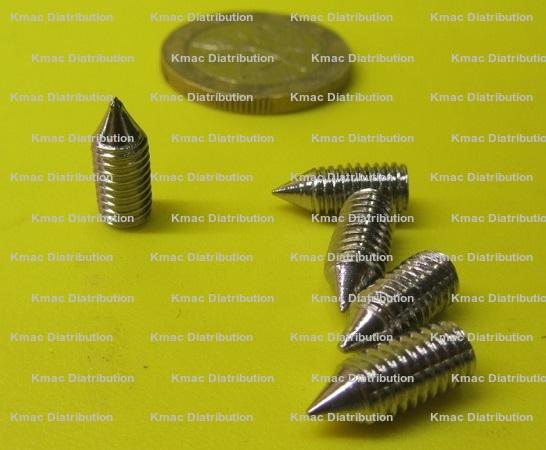 Metric Stainless Steel Cone Point Set Screws