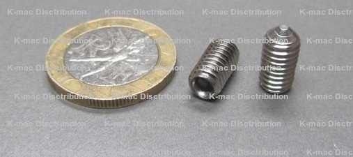 Metric Stainless Steel Cone Point Set Screws
