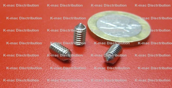 Cone Point Stainless Steel Set Screws 2-56, 4-40, 4-48