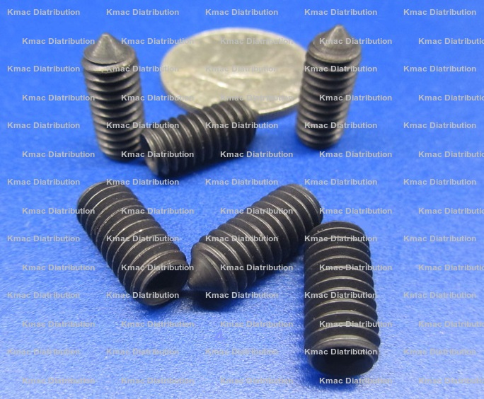 Black Oxide and Alloy Steel Cone Point Set Screws