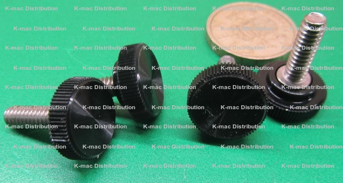 Plastic Thumb Screw Head for 1//4 Screw Size Acetal Knurled 3//4 Diameter