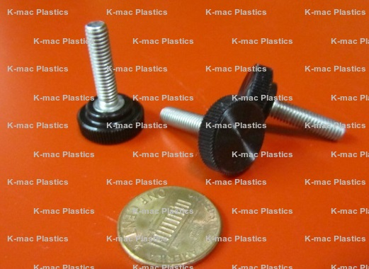 Plastic-Head Thumb Screw Acetal Knurled Thread Size #10-32 FastenerParts